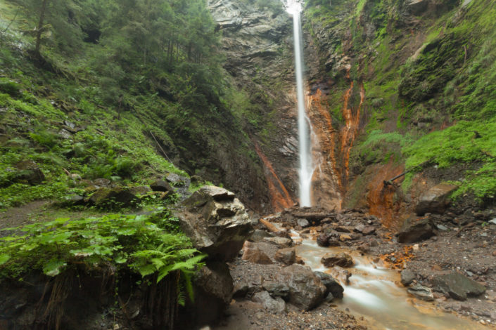 'Flitzer' waterfall in Val di Funes (Dolomites)